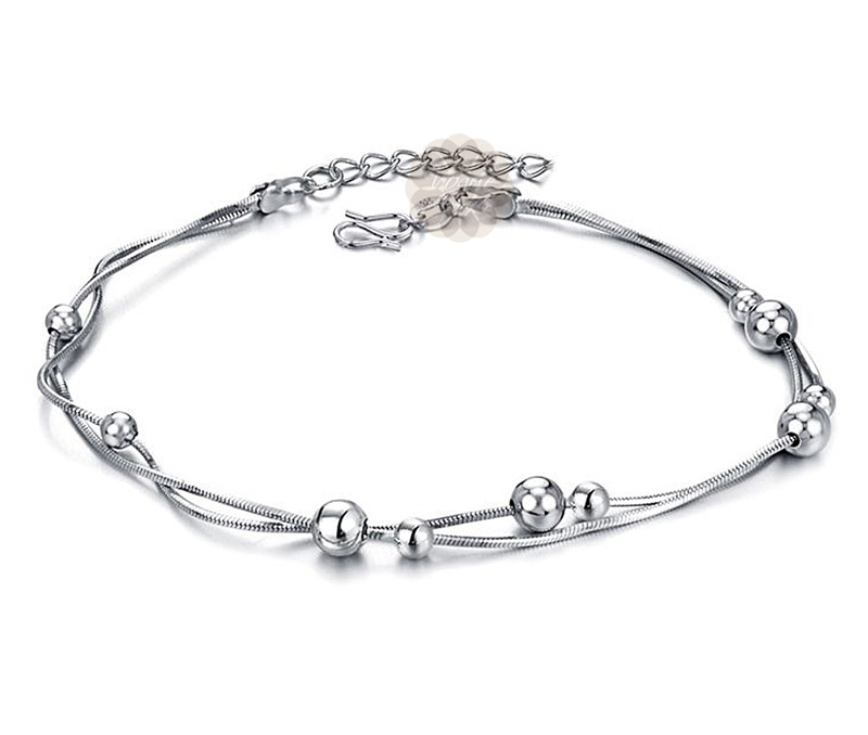 Vogue Crafts & Designs Pvt. Ltd. manufactures Silver Ball Anklet at wholesale price.