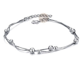 Vogue Crafts and Designs Pvt. Ltd. manufactures Silver Ball Anklet at wholesale price.