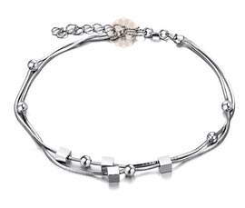 Vogue Crafts and Designs Pvt. Ltd. manufactures Designer Charms Silver Anklet at wholesale price.