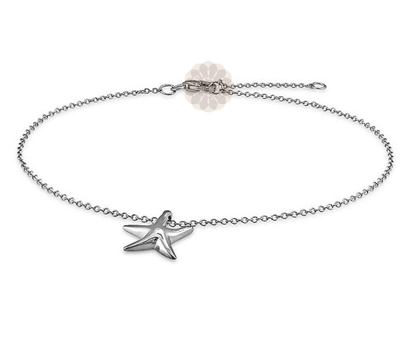 Vogue Crafts & Designs Pvt. Ltd. manufactures Vintage Star Silver Anklet at wholesale price.