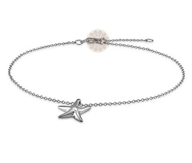 Vogue Crafts and Designs Pvt. Ltd. manufactures Vintage Star Silver Anklet at wholesale price.