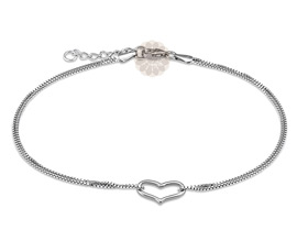 Vogue Crafts and Designs Pvt. Ltd. manufactures Silver Heart Anklet at wholesale price.