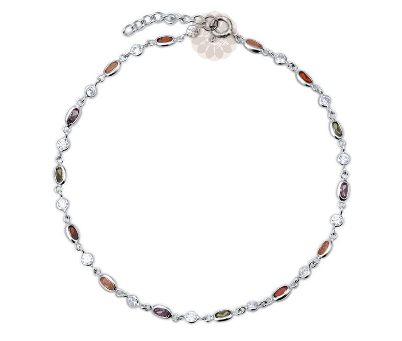 Vogue Crafts & Designs Pvt. Ltd. manufactures Multicolor Silver Anklet at wholesale price.
