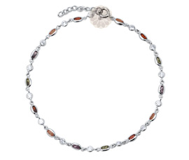 Vogue Crafts and Designs Pvt. Ltd. manufactures Multicolor Silver Anklet at wholesale price.