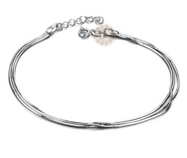 Vogue Crafts and Designs Pvt. Ltd. manufactures Multi-strand Silver Anklet at wholesale price.