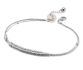Vogue Crafts and Designs Pvt. Ltd. manufactures Layered Silver Anklet at wholesale price.