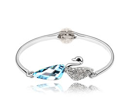 Sterling Silver Swan Bangle