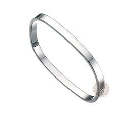 Beauty Quick Square Silver Bangle