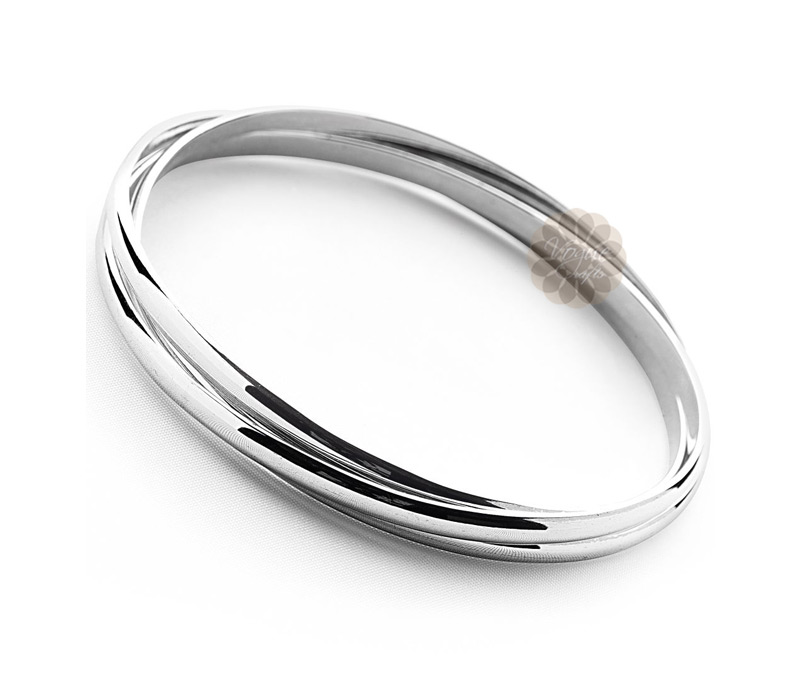 Vogue Crafts & Designs Pvt. Ltd. manufactures Simple Silver Trinity Bangle at wholesale price.
