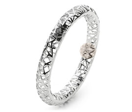 Vogue Crafts and Designs Pvt. Ltd. manufactures Filigree Silver Bangle at wholesale price.