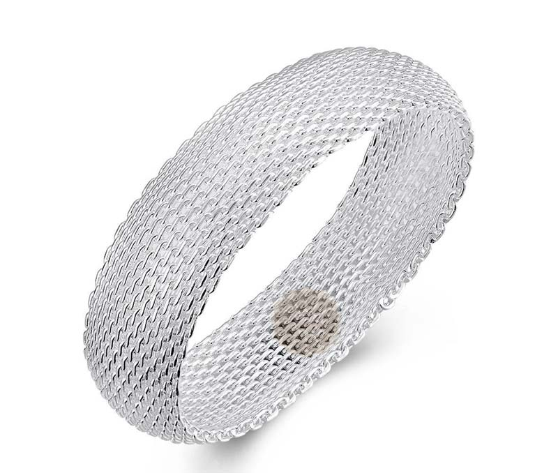 Vogue Crafts & Designs Pvt. Ltd. manufactures Sterling Silver Braided Bangle at wholesale price.