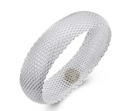 Vogue Crafts and Designs Pvt. Ltd. manufactures Silver Mesh Bangle at wholesale price.