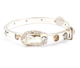 Vogue Crafts and Designs Pvt. Ltd. manufactures Silver Belt Buckle Bangle at wholesale price.