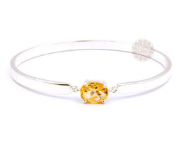 Vogue Crafts and Designs Pvt. Ltd. manufactures Sterling Silver Citrine Bangle at wholesale price.