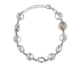 Vogue Crafts and Designs Pvt. Ltd. manufactures Sterling Silver Stone Bracelet at wholesale price.