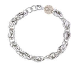 Vogue Crafts and Designs Pvt. Ltd. manufactures Fancy Link Chain Silver Bracelet at wholesale price.
