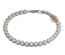 Vogue Crafts and Designs Pvt. Ltd. manufactures Round Stone Silver Bracelet at wholesale price.