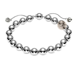 Vogue Crafts and Designs Pvt. Ltd. manufactures Classic Silver Ball Bracelet at wholesale price.
