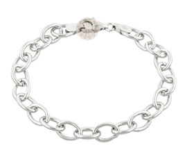 Vogue Crafts and Designs Pvt. Ltd. manufactures Silver Link Chain Bracelet at wholesale price.
