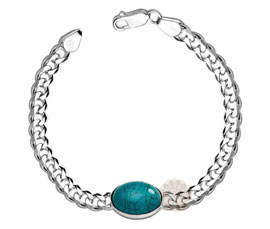 Vogue Crafts and Designs Pvt. Ltd. manufactures Classic Silver Bracelet at wholesale price.