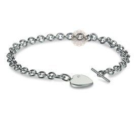 Vogue Crafts and Designs Pvt. Ltd. manufactures Sterling Silver Heart Bracelet at wholesale price.