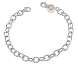 Vogue Crafts and Designs Pvt. Ltd. manufactures Classic Silver Chain Bracelet at wholesale price.