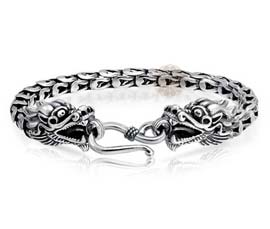 Vogue Crafts and Designs Pvt. Ltd. manufactures Silver Dragon Bracelet at wholesale price.
