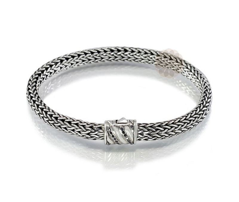 Vogue Crafts & Designs Pvt. Ltd. manufactures Braided Chain Silver Bracelet at wholesale price.