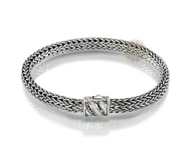 Vogue Crafts and Designs Pvt. Ltd. manufactures Braided Chain Silver Bracelet at wholesale price.