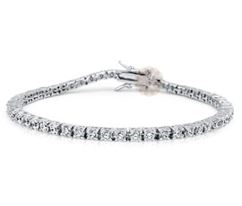 Vogue Crafts and Designs Pvt. Ltd. manufactures Stone Studded Silver Bracelet at wholesale price.