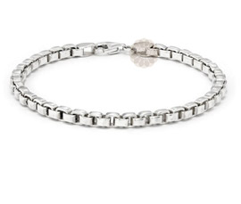 Vogue Crafts and Designs Pvt. Ltd. manufactures Sterling Silver Link Bracelet at wholesale price.
