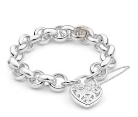 Vogue Crafts and Designs Pvt. Ltd. manufactures Silver Heart Bracelet at wholesale price.