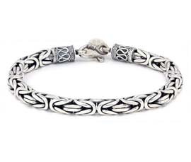 Vogue Crafts and Designs Pvt. Ltd. manufactures Designer Silver Link Bracelet at wholesale price.