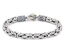Vogue Crafts and Designs Pvt. Ltd. manufactures Designer Silver Link Bracelet at wholesale price.