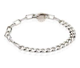Vogue Crafts and Designs Pvt. Ltd. manufactures Silver Link Bracelet at wholesale price.