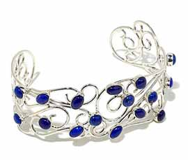Vogue Crafts and Designs Pvt. Ltd. manufactures Filigree Silver Cuff at wholesale price.