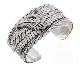Vogue Crafts and Designs Pvt. Ltd. manufactures Sterling Silver Eagle Cuff at wholesale price.