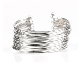 Vogue Crafts and Designs Pvt. Ltd. manufactures Layered Silver Cuff at wholesale price.