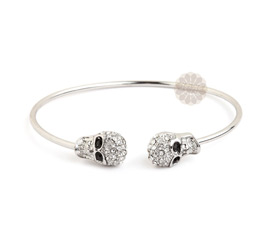 Vogue Crafts and Designs Pvt. Ltd. manufactures Sterling Silver Skull Cuff at wholesale price.