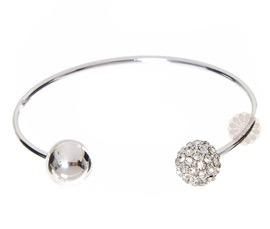 Vogue Crafts and Designs Pvt. Ltd. manufactures Ball Ends Silver Cuff at wholesale price.