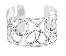 Vogue Crafts and Designs Pvt. Ltd. manufactures Loop Pattern Silver Cuff at wholesale price.