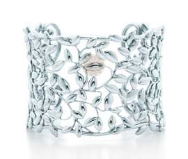 Vogue Crafts and Designs Pvt. Ltd. manufactures Olive Leaf Wide Silver Cuff at wholesale price.