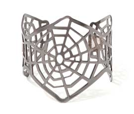 Vogue Crafts and Designs Pvt. Ltd. manufactures Spider Web Silver Cuff at wholesale price.