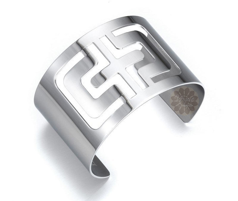 Vogue Crafts & Designs Pvt. Ltd. manufactures Cut Out Cross Silver Cuff at wholesale price.
