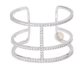 Vogue Crafts and Designs Pvt. Ltd. manufactures Three Tier Silver Cuff at wholesale price.