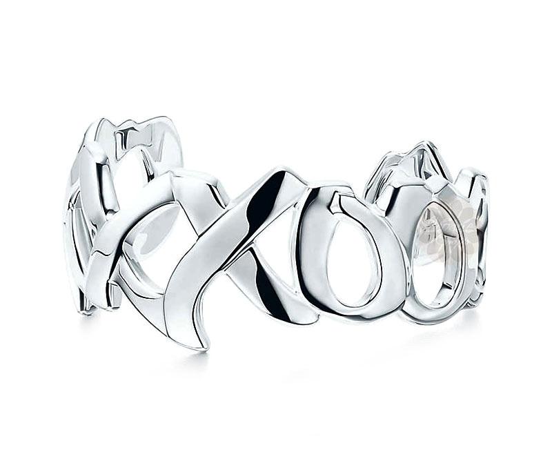 Vogue Crafts & Designs Pvt. Ltd. manufactures Graffiti Love Silver Cuff at wholesale price.