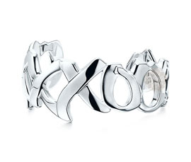 Vogue Crafts and Designs Pvt. Ltd. manufactures Graffiti Love Silver Cuff at wholesale price.