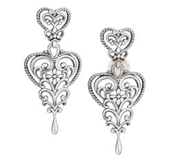 Vogue Crafts and Designs Pvt. Ltd. manufactures Sterling Silver Floral Earrings at wholesale price.