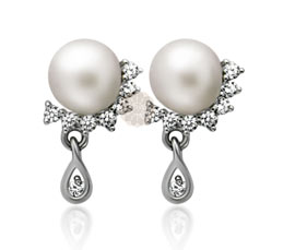 Vogue Crafts and Designs Pvt. Ltd. manufactures Silver Teardrop Pearl Earrings at wholesale price.