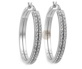 Vogue Crafts and Designs Pvt. Ltd. manufactures Designer Silver Hoop Earrings at wholesale price.